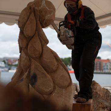 Wood Sculpture – 7. International Symposium Sønderborg